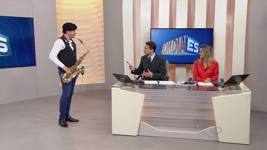 Ademir Junior participando do Bom Dia ES (Foto: Divulgação/ TV Gazeta)