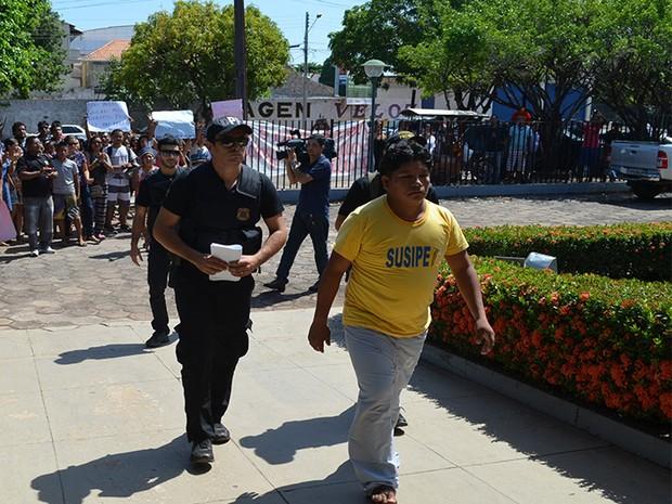Poró Borari foi encaminhado para a Penitenciária Agrícola Silvio Hall de Moura ainda na terça-feira (9) (Foto: Geovane Brito/G1)