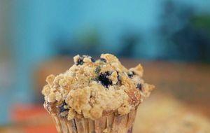 Receita de muffin de mirtilo