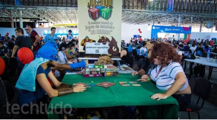 Vale tudo em nome da diversão na Campus Party  (Foto: TechTudo/Paulo Vasconcellos)