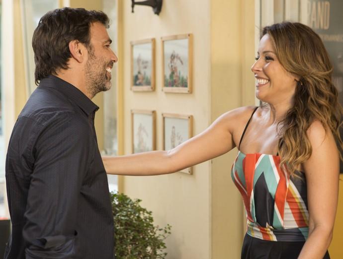 Sirlene deixa escapar informação sobre pai do seu filho (Foto: Felipe Monteiro / Gshow)