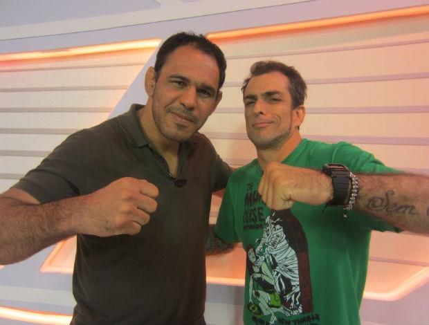 Rogério Minotouro e Marcelo Dourado no Corujão do Esporte (Foto: Daniel Cardoso/GLOBOESPORTE.COM)