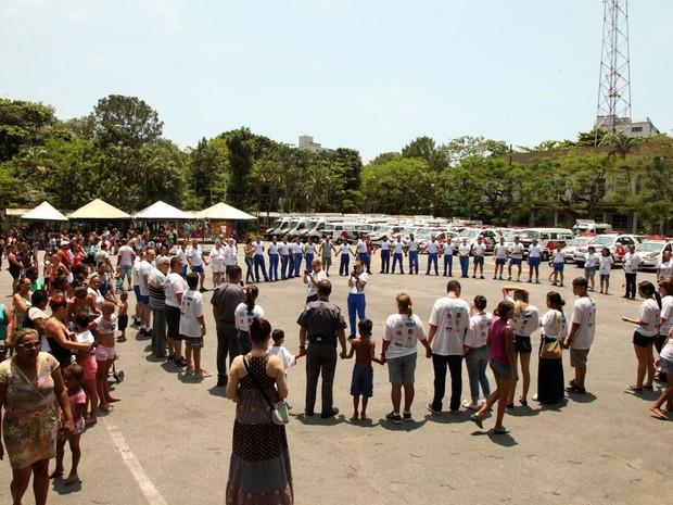 Festa foi realizada na sede do batalhão, em Santos, no litoral de SP (Foto: Francisco Arrais/Arquivo Pessoal)