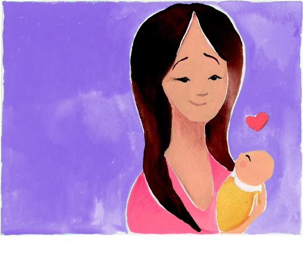 Divócio - mãe e bebê (Foto: Naíma Saleh)