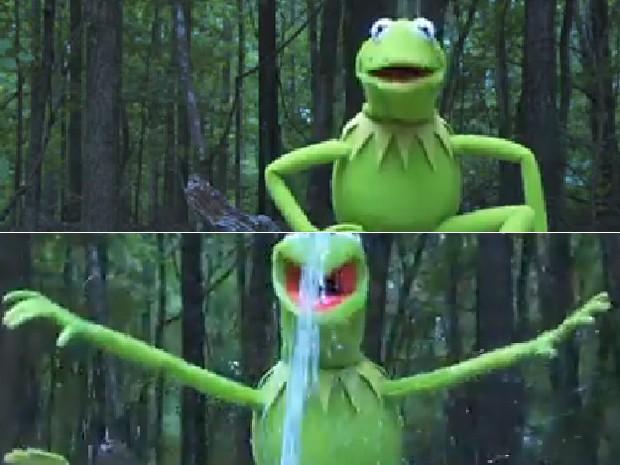 Kermit, o sapo dos 'Muppets', aceita o desafio do balde de gelo (Foto: Reprodução/Muppets)