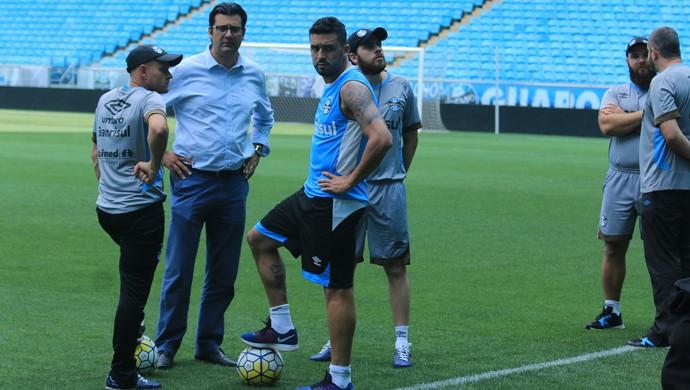 Edílson treino GrÊmio (Foto: Eduardo Moura/GloboEsporte.com)