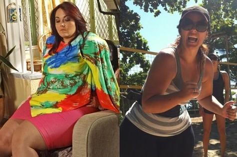 Renata Celidônio: antes e depois (Foto: Divulgação)