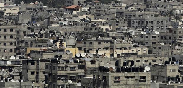 Cidade de Gaza, no norte da Faixa de Gaza, em 28 de julho de 2014 (Foto: Adel Hana/AP)