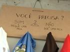 Projeto 'Cabide Solidário' distribui roupas para proteger pessoas do frio