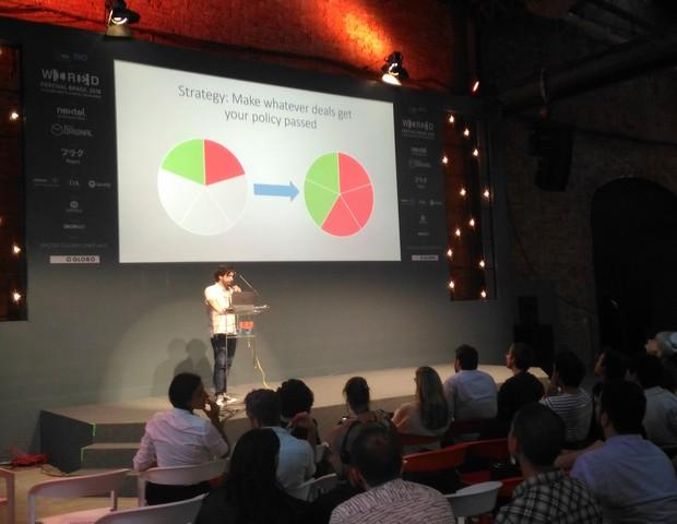 Palestra da Wired Festival explica como a tecnologia pode fortalecer a democracia (Foto: Gabriel Chequer )