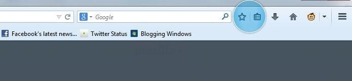 Firefox ganhou novo ícone de favoritos (Foto: Reprodução/Thiago Barros)