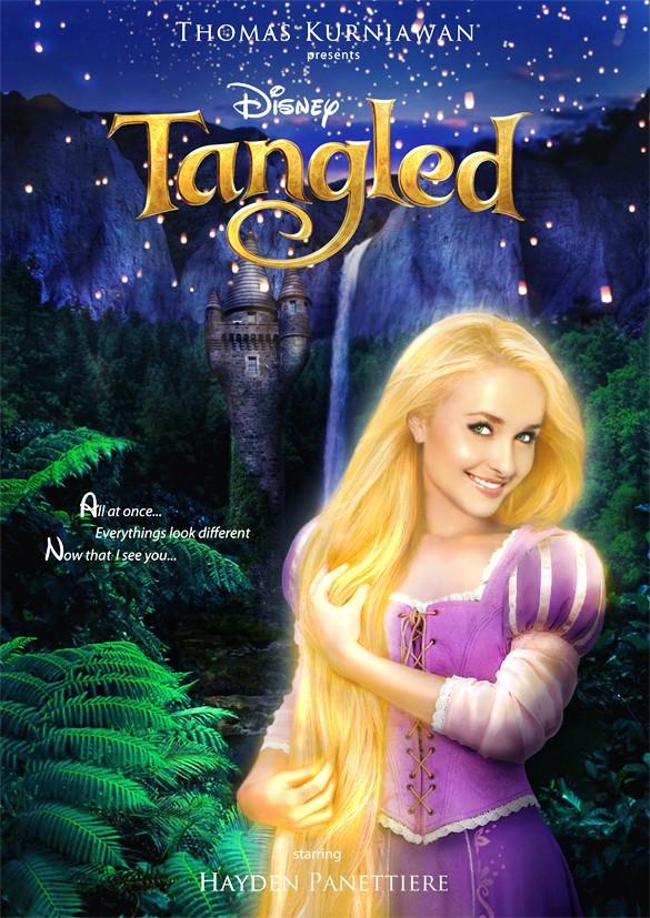 Hayden Panettiere como Rapunzel de 'Enrolados' (Foto: Thomas Kurniawan)