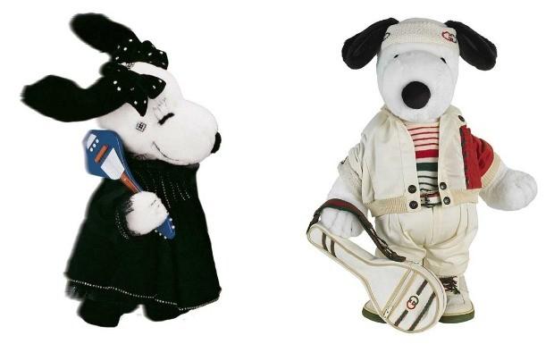 'Snoopy ganha looks de estilistas' Karl Lagerfeld e Gucci' (Foto: Divulgao)
