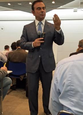 Carlos Ghosn, presidente da Renault Nissan, no Salão de Tóquio (Foto: Luciana de Oliveira/G1)