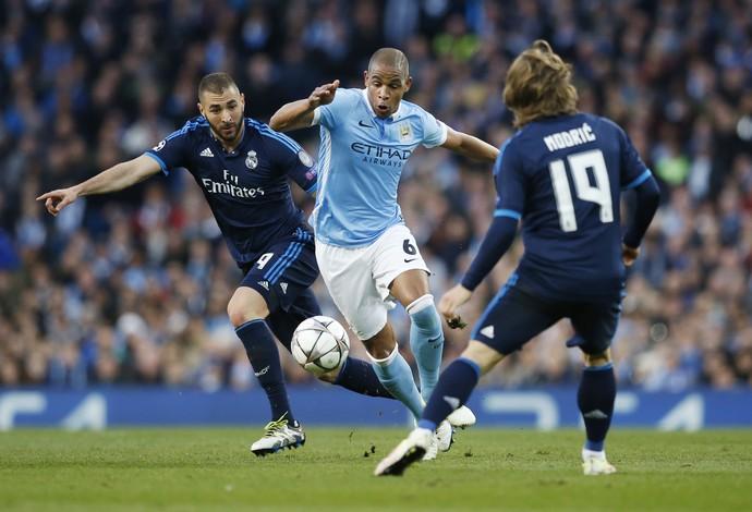 Fernando Manchester City x Real Madrid (Foto: Reuters)