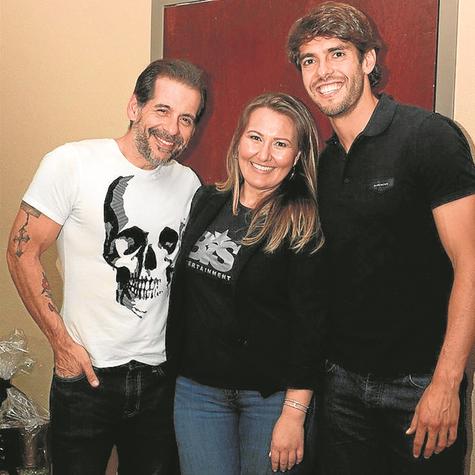 Leandro Hassum, Priscila Triska e Kaká (Foto: Renata Miranda)