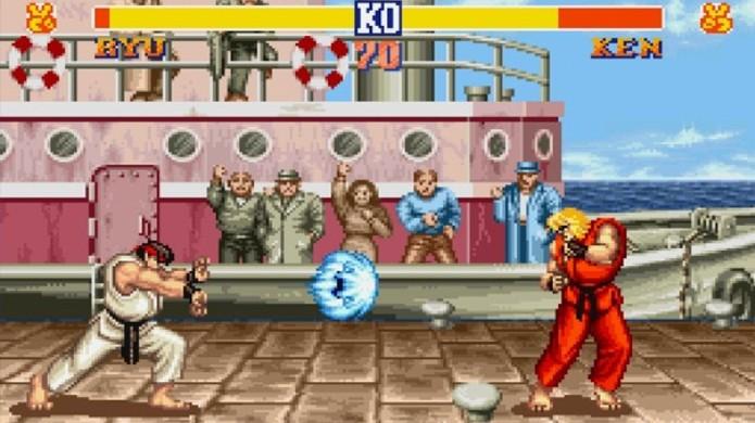 O clássico Street Fighter 2 trouxe o sucesso do fliperama para o Super Nintendo (Foto: Reprodução/Huffington Post)
