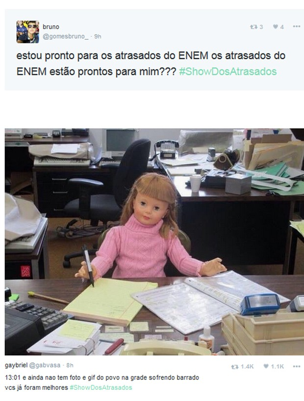 Enem (Foto: Reprodução / Twitter)