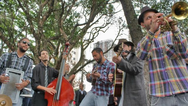 Emblues Beer Band, uma das atrações do 4º Santos Jazz Festival (Foto: Arquivo Pessoal)