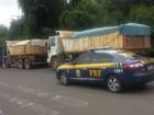 Caminhões são flagrados com 20 toneladas de excesso de peso no RS