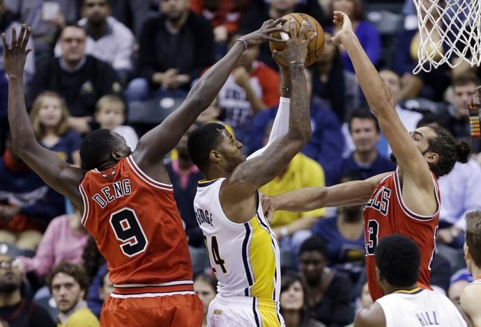 Paul George Indiana Pacers Chicago Bulls (Foto: AP)
