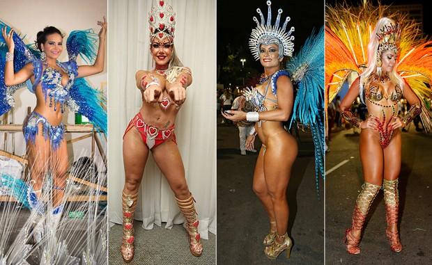 Musas do Carnaval carioca (Foto: Derick Abreu/Divulgação, Marcos Serra Lima/EGO,Celso Tavares/EGO e Marcos Serra Lima/EGO)
