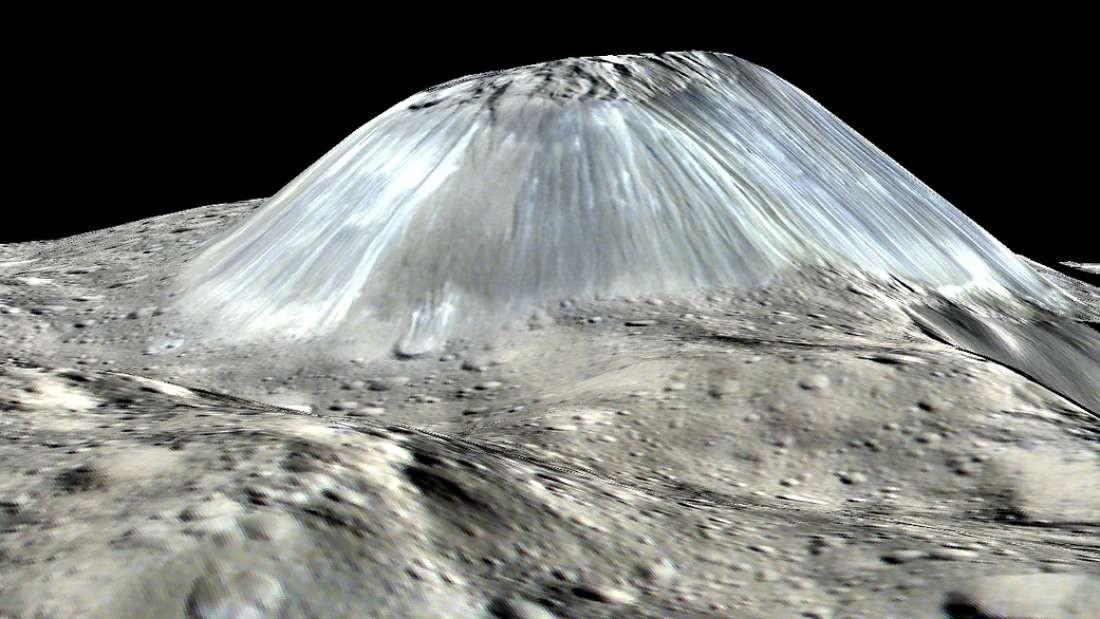 Reconstrução em 3D da superfície de Ceres (Foto: NASA/JPL-Caltech/UCLA/MPS/DLR/IDA/PSI)