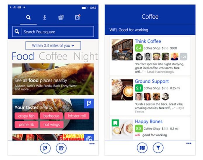 Novidade chega para WP: Foursquare libera app para usuários com mesmas funcionalidades de Android e iOS (Foto: Divulgação/Foursquare)