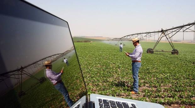 A Agrosmart promete a economia de até 60% da água utilizada para a irrigação das lavouras (Foto: Estadão Conteúdo)