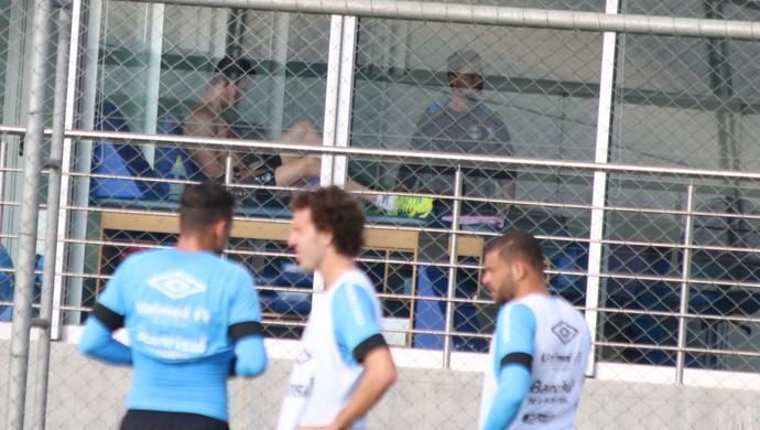 Marcelo Grohe permanece no vestiário (Foto: Eduardo Moura)