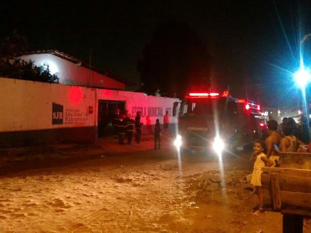Escola Municipal Nice Lobão foi alvo de ataque na noite de sábado (1º) em São José de Ribamar, MA (Foto: João Ricardo)