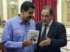Amigo de Chávez, Oliver Stone se reúne com Maduro na Venezuela