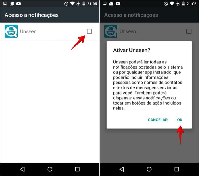 Permita que o aplicativo acesse as notificações do celular (Foto: Reprodução/Helito Bijora)