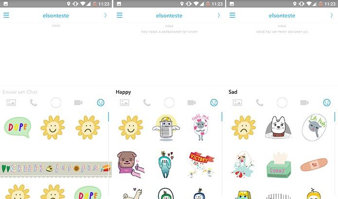 Snapchat pode ter adesivos filtrados com palavras em inglês (Foto: Reprodução/Elson de Souza)