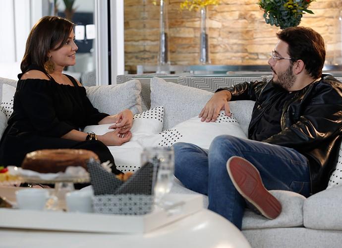 Papo divertido marcou a entrevista do blogueiro (Foto: Fábio Rocha / Gshow)