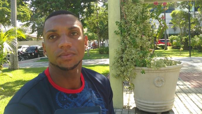 Anselmo, atacante do Fortaleza (Foto: Thaís Jorge)