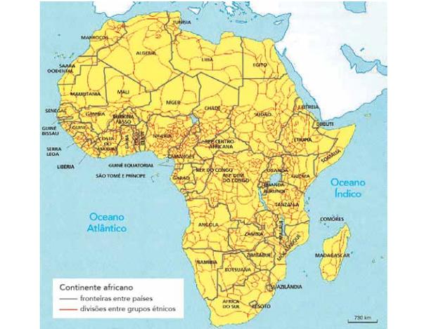 Adaptado de OLIC, Nelson Basic; CANEPA, Beatriz. África: terra, sociedades e conflitos. São Paulo: Moderna, 2012. (Foto: Uerj/2014)