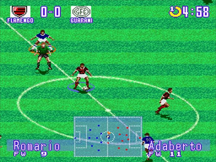 Ronaldinho Soccer , clone do International Soccer (Foto: Reprodução)