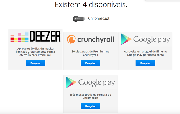 Escolha uma das ofertas e clique em Resgatar (Foto: Reprodução/Paulo Alves)