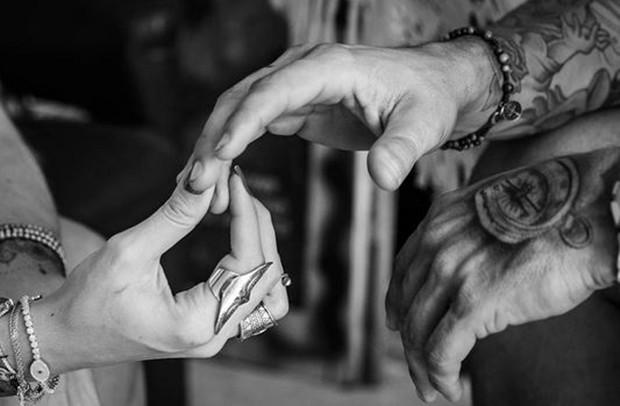 Aline Gotschalg e Fernando se casam (Foto: Instagram / Reprodução)