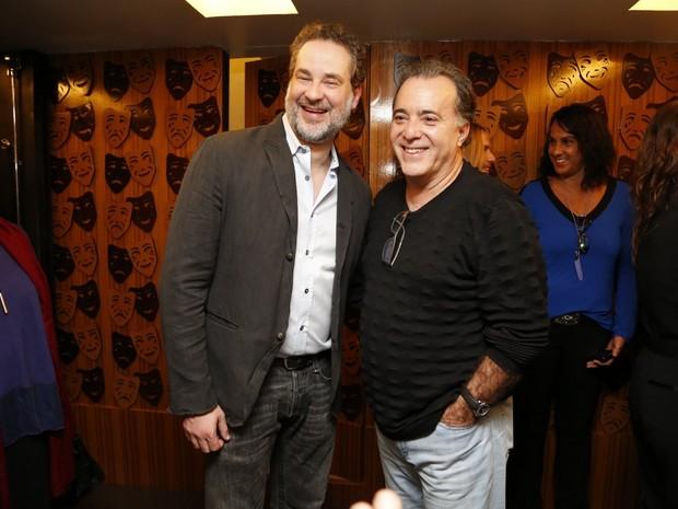Dan Stulbach e Tony Ramos em estreia de peça no Rio (Foto: Felipe Assumpção e Léo Marinho/ Ag. News)
