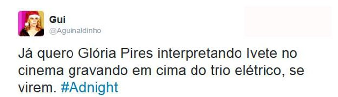 Internautas gostaram da ideia do filme de Ivete com Gloria Pires (Foto: Reprodução)