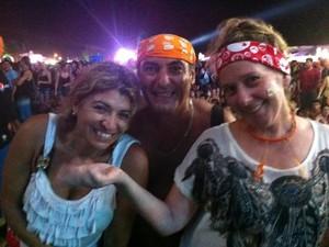 Márcia e os amigos Behur e Vera (Foto: Caetanno Freitas/G1)