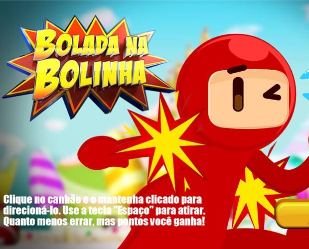 Jogo exclusivo Bolada na Bolinha (Foto: Domingão do Faustão - TV Globo)
