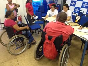 Ação reuniu empresas para contratação de portadores de deficiência (Foto: John Pacheco/G1)