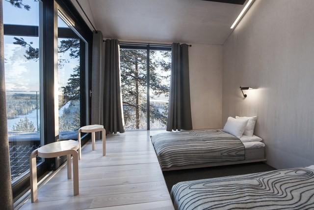 Os quartos ficam instalados no segundo andar da cabine (Foto: Reprodução/Johan Jansson)