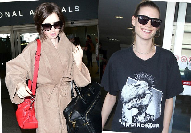 Lilly Collins e Behati Prinsloo (Foto: AKM Images)