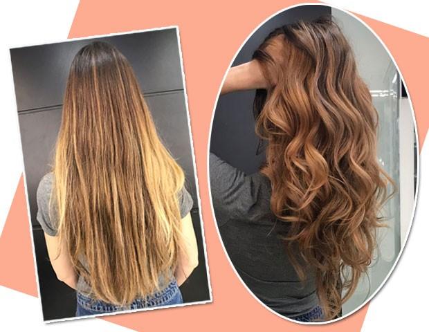 O antes e depois do cabelo  (Foto: Marie Claire)