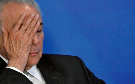 O presidente do Brasil, Michel Temer (Foto:  Mateus Bonomi / AGIF/AFP)