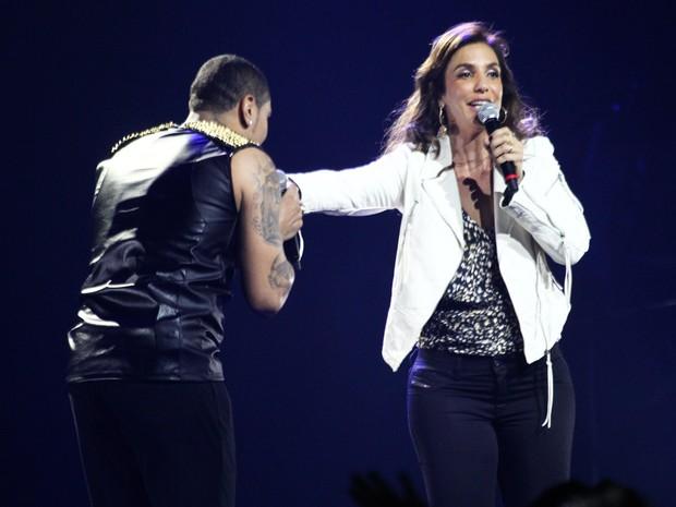 Ivete Sangalo e Naldo em show em São Paulo (Foto: Manuela Scarpa/ Foto Rio News)